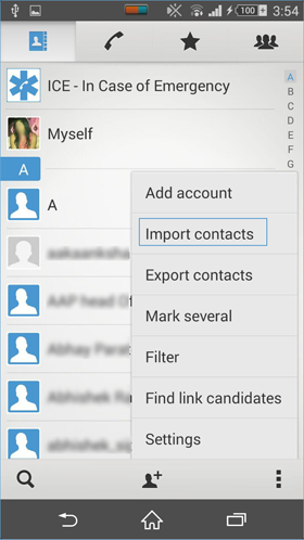 import excel contacts into android contacts