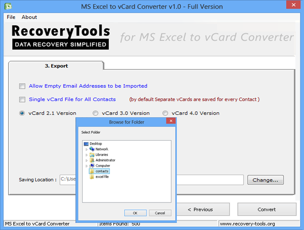 How to Import Contacts from MS Excel CSV, XLS or XLSX File into