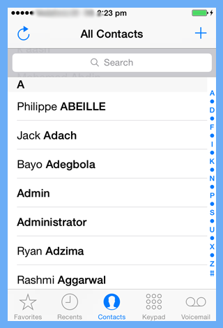 contacts gets imported from icloud to iphone