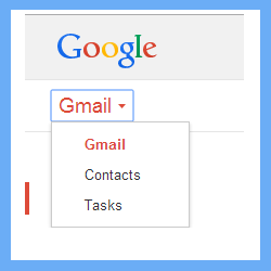 select contacts option to export contacts from excel to gmail